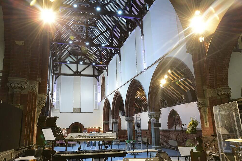 Electrical Roller Blinds For Churches Waverley Case Study